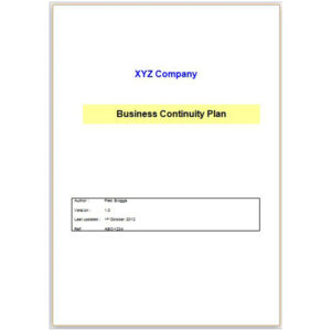 Business Continuity Plan (ver1.0)